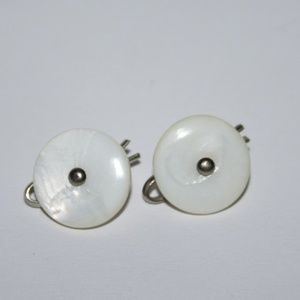 Vintage mother of pearl men's cuff links